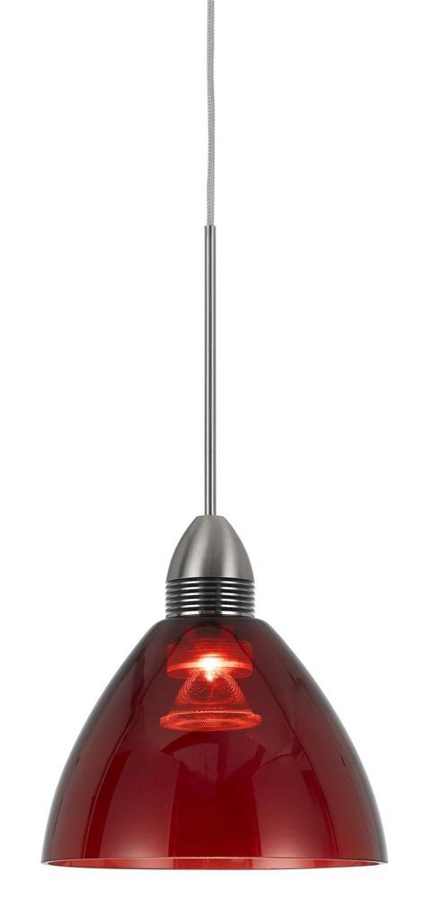 Cal Lighting-UPL-716-RED-LED Pendant  Red Finish