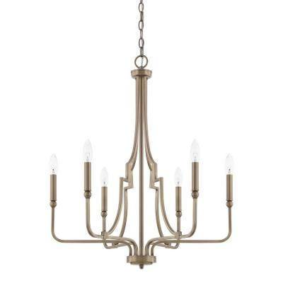 Capital lighting 419361ad dawson six light chandelier