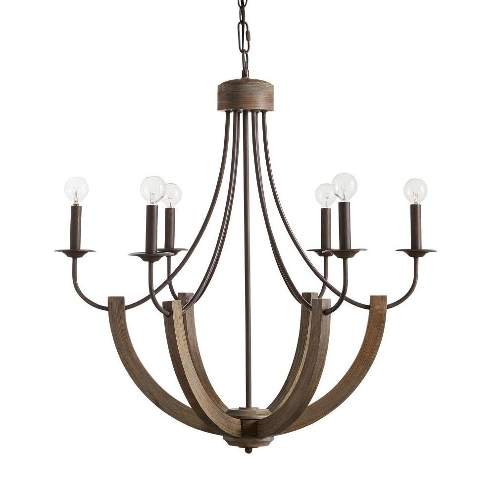 Capital Lighting-429161NG-Tybee Chandelier 6 Light Nordic Grey  Nordic Grey Finish