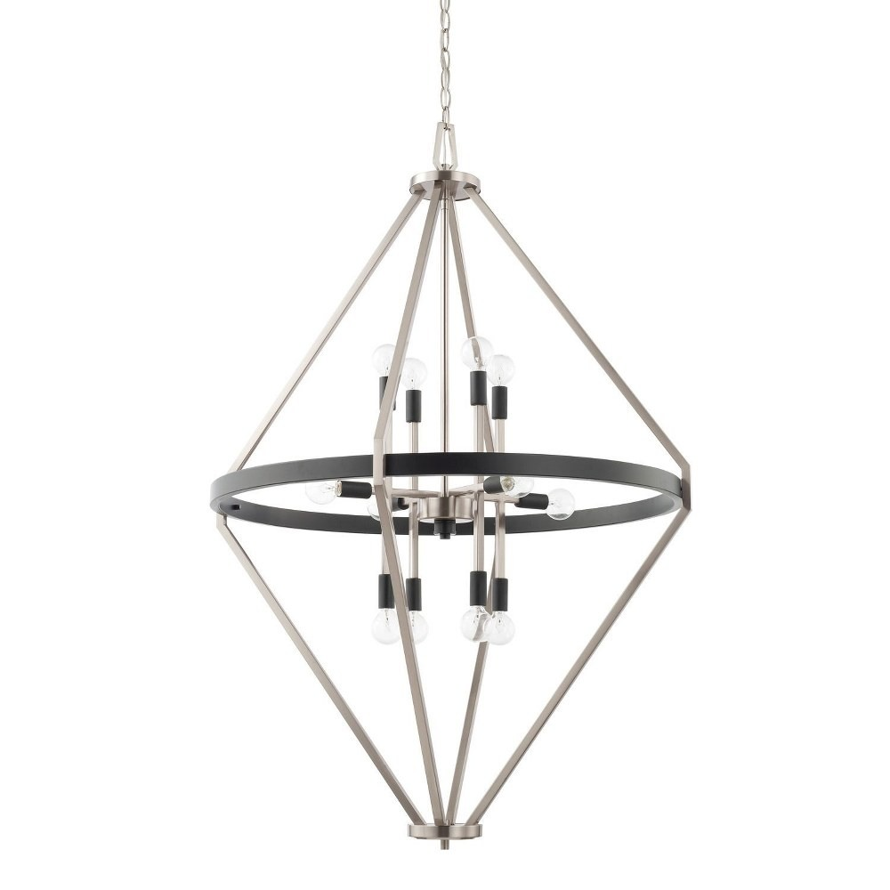 Capital Lighting-525201BT-Tux - Twelve Light Foyer  Black Tie Finish