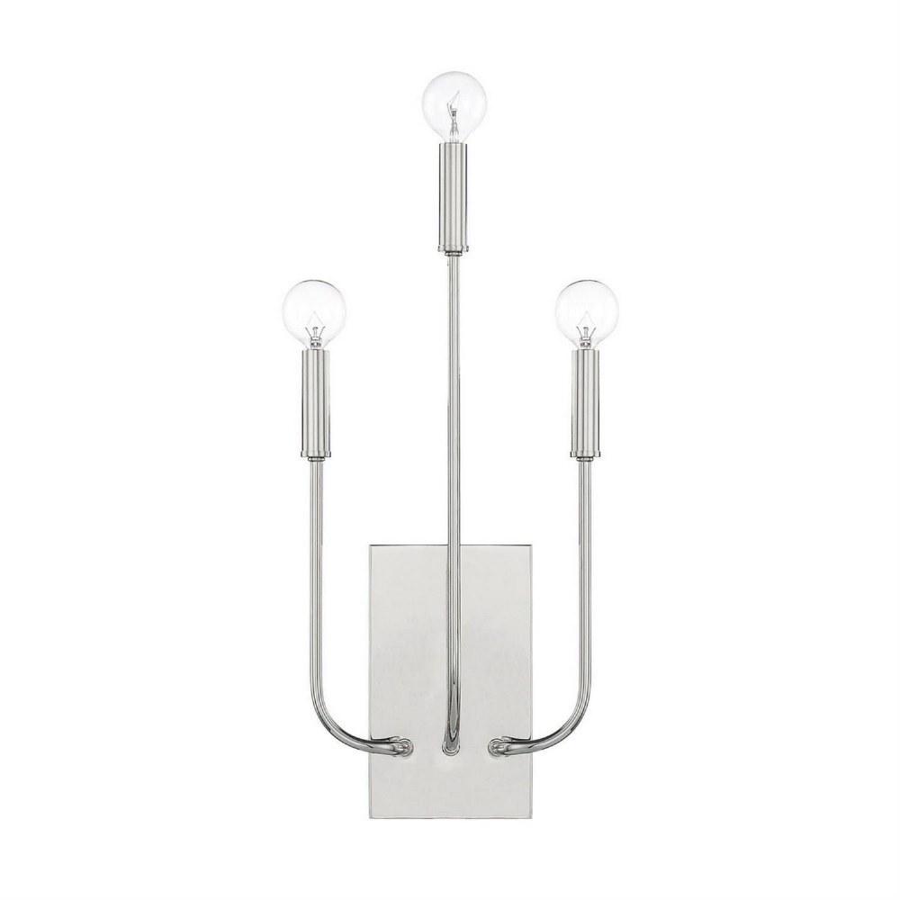 Capital Lighting-621931PN-Zander - Three Light Wall Sconce  Polished Nickel Finish