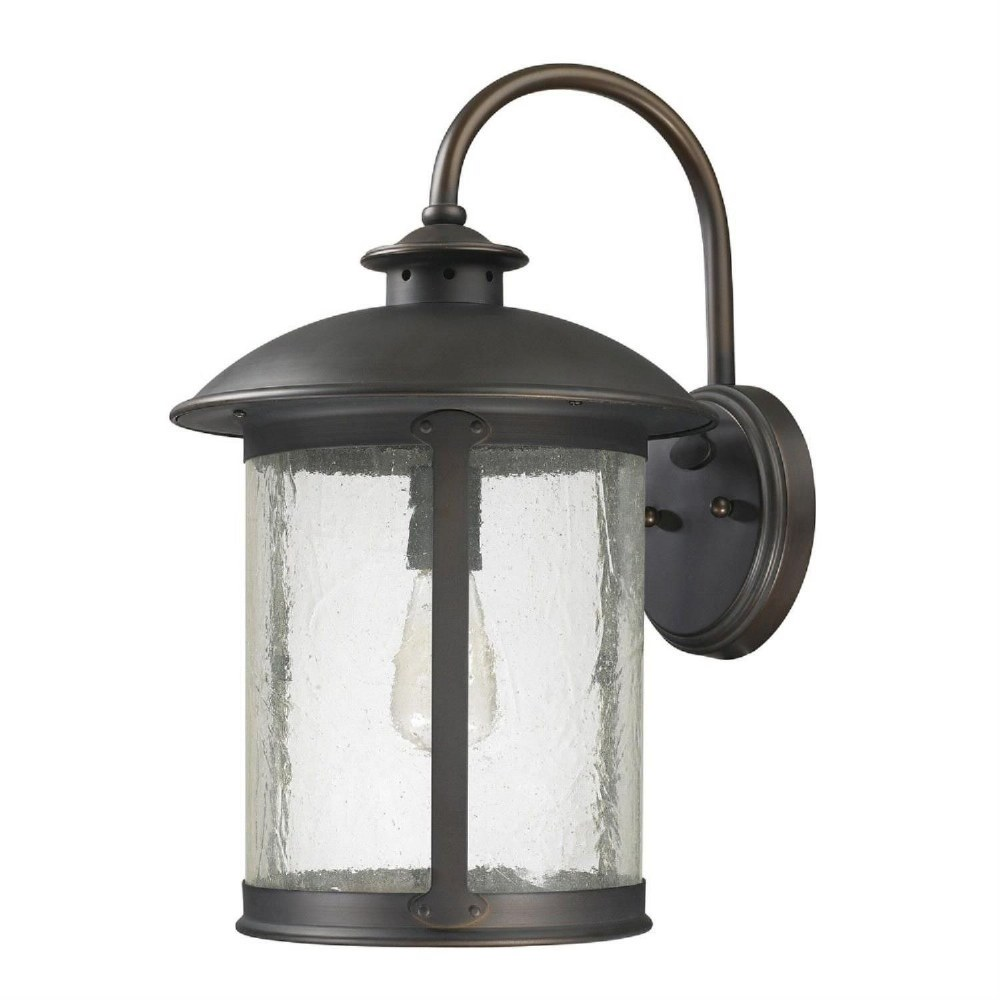 Capital Lighting-9563OB-Dylan - 11.5 Inch 1 Light Outdoor Wall Mount  Old Bronze Finish with Antique Glass