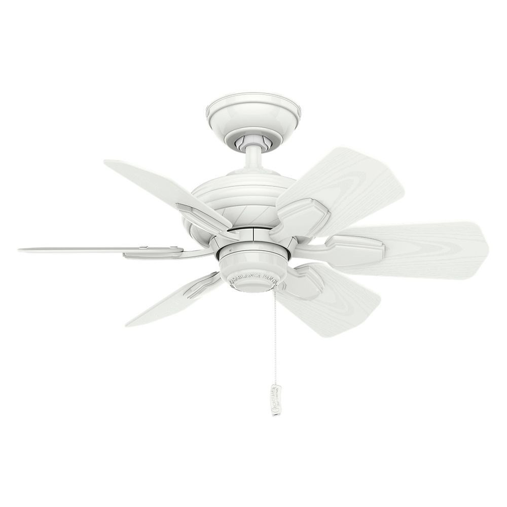 Casablanca Fans-59523-Wailea 6 Blade 31 Inch Ceiling Fan with Pull Chain Control  Snow White Finish