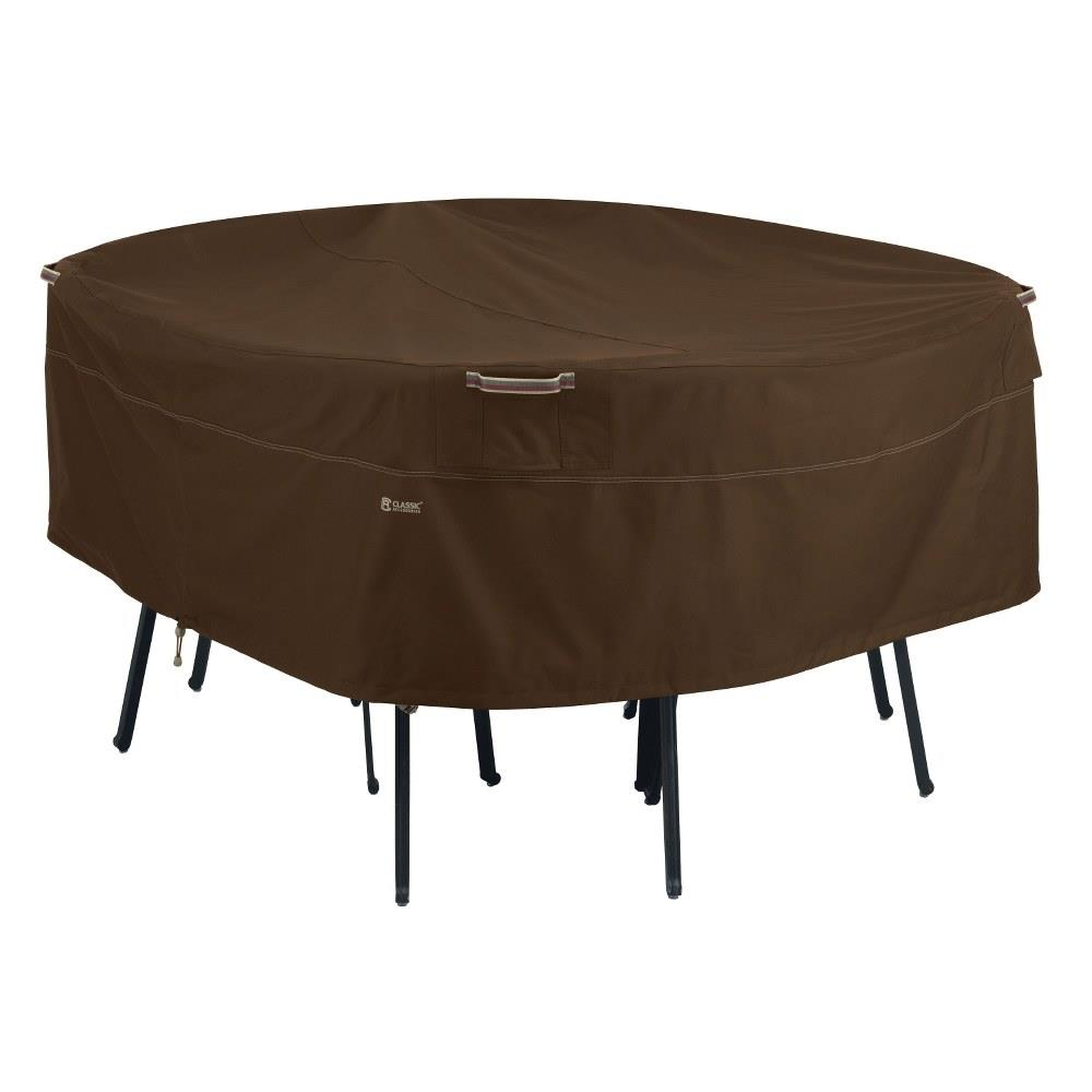 Classic Accessories 55 722 046601 Rt Madrona 96 X 96 Inch Large Rainproof Round Patio Table Chair Set Cover