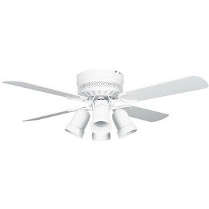 Concord Fans-42HUG4WH-Y408-Hugger - 42 Inch Ceiling Fan  White Finish with White Blade Finish