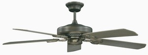 Concord Fans-52FQ5ORB-French Quarter - 52 Inch Ceiling Fan  Oil Rubbed Bronze Finish with Oil Rubbed Bronze Blade Finish