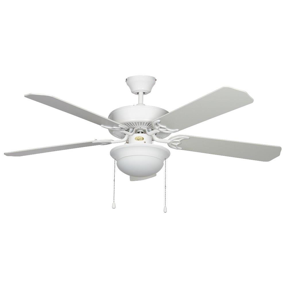 Concord Fans 52hef5wh Mb Led Hef 52 Inch 5 Blade Ceiling Fan With Light Kit