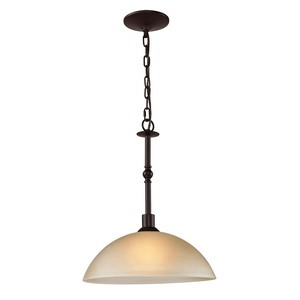 Cornerstone-1301PL/10-Oil Rubbed Bronze Finish with Light Amber Glass