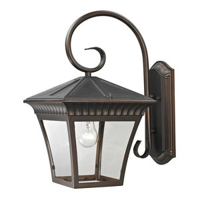 Cornerstone-8421EW/70-Ridgewood - One Light Large Wall Lantern  Hazelnut Bronze Finish with Clear Glass