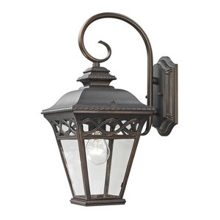 Cornerstone-8501EW/70-Mendham - One Light Small Wall Lantern  Hazelnut Bronze Finish with Clear Glass
