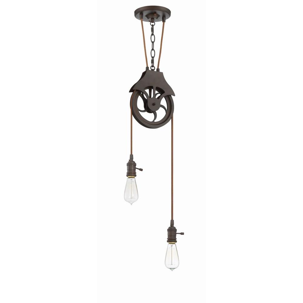 Design-A-Fixture - Two Light Keyed Socket Pulley Pendant Hardware