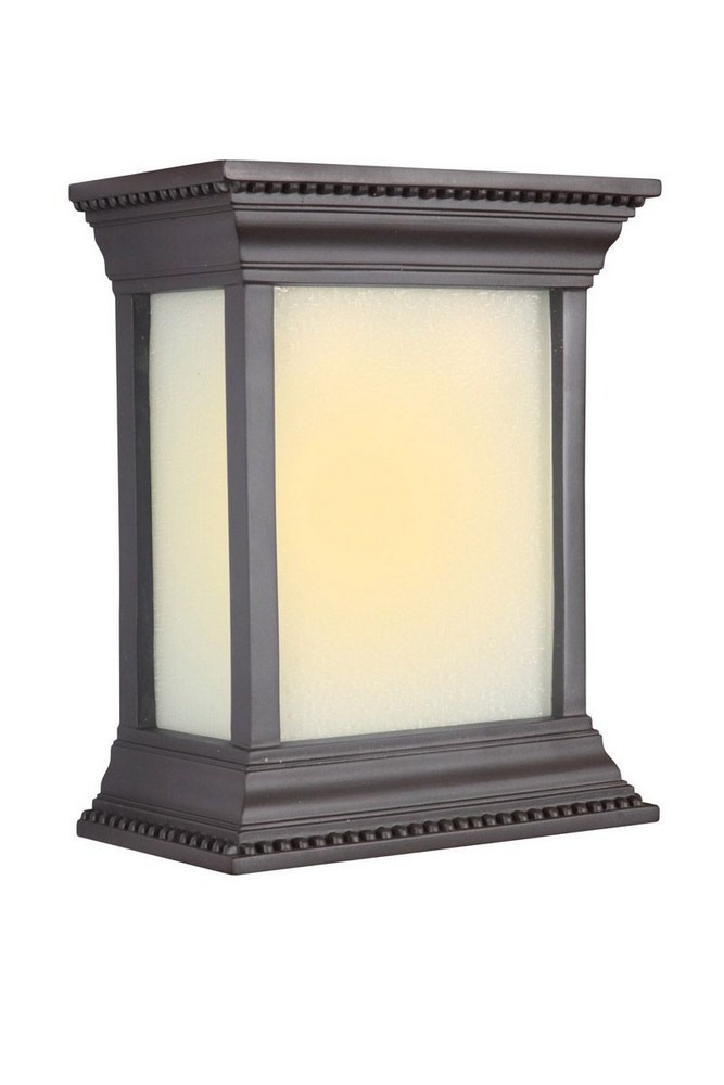 Craftmade Lighting-ICH1520-OB-10.25 Inch LED Outdoor Crown Molding Chime  Oiled Bronze Finish with White Linen Glass