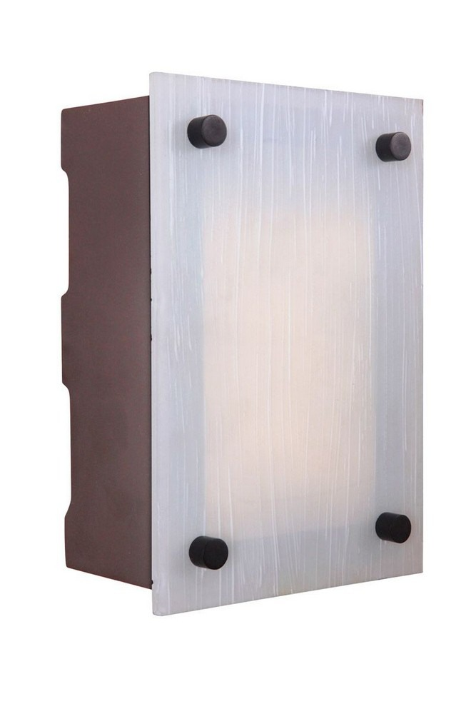 Craftmade Lighting-ICH1605-AI-9.25 Inch LED Outdoor Rectangle Chime  Aged Iron Finish with Frosted Striated Glass
