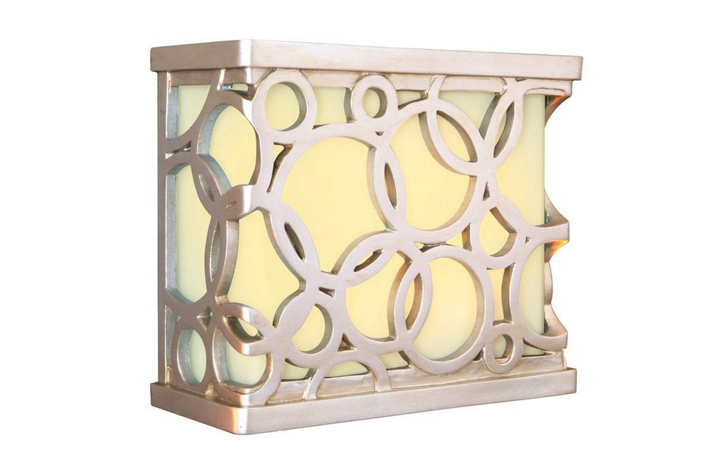 Craftmade Lighting-ICH1620-BN-10 Inch LED Outdoor Carved Circular Chime  Brushed Nickel Finish with Frosted Glass