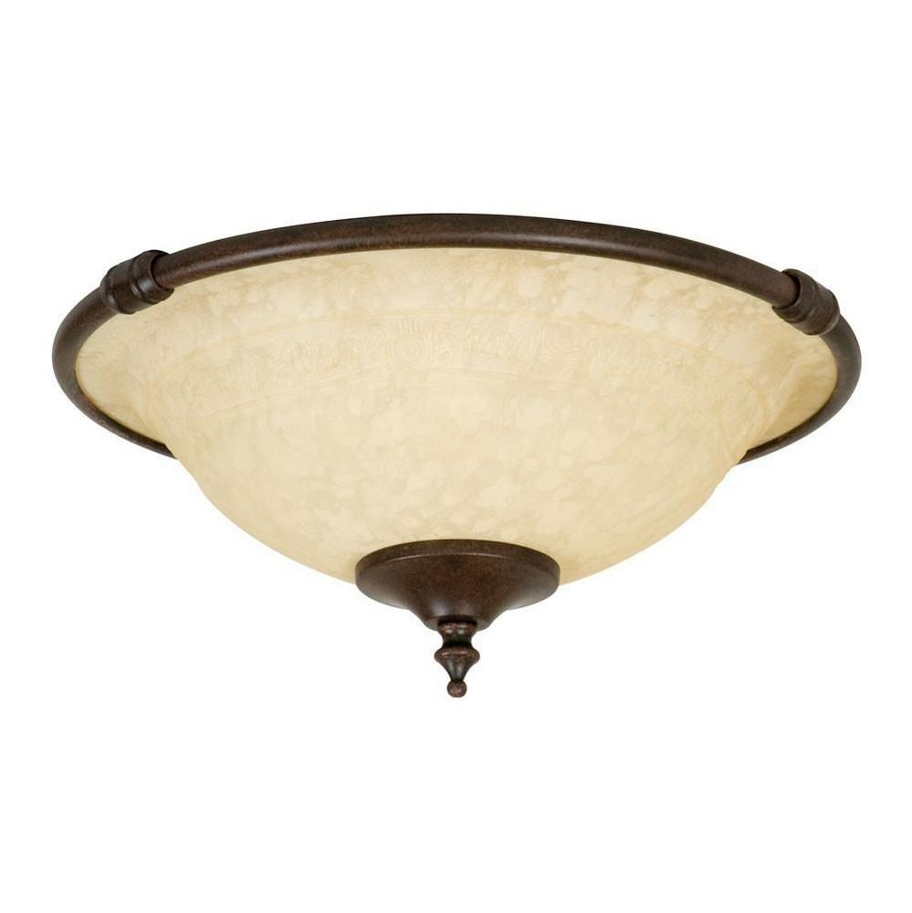 Craftmade Lighting-LK24-AG-LED-Economy - Two Light Bowl Kit  Aged Bronze Finish with Antique Scavo Glass