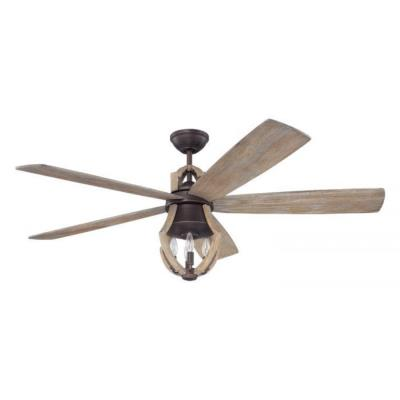 "Craftmade Lighting WIN56ABZWP5 Winton - 56"" Ceiling Fan with Light Kit"