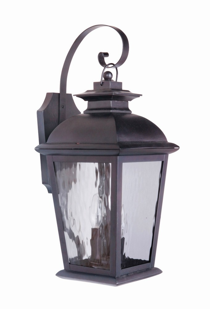 Craftmade Lighting-Z5714-OBO-Branbury - Three Light Outdoor Medium Wall Mount  Oiled Bronze Finish with Water Glass