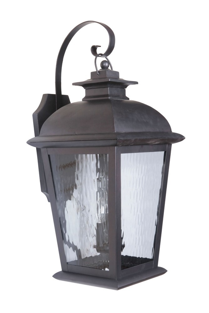 Craftmade Lighting-Z5734-OBO-Branbury - Three Light Outdoor Extra Large Wall Mount  Oiled Bronze Finish with Water Glass