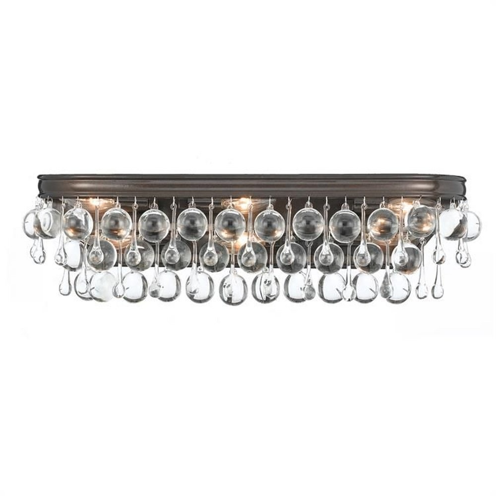 Crystorama Lighting - 133-VZ - Calypso - Six Light Bathroom Lights Vibrant Bronze Clear Hand Cut Crystal