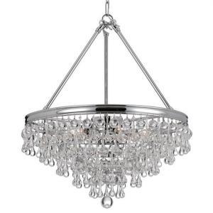 calypso six light chandelier