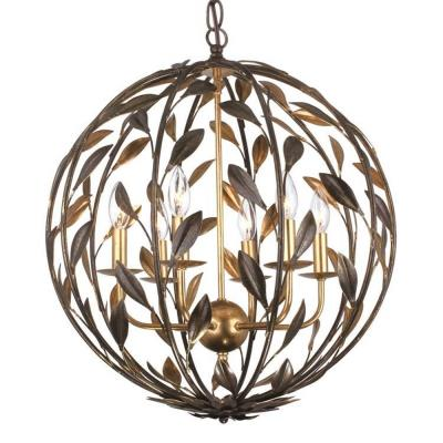 Crystorama Lighting 506 Broche - Six Light Chandelier