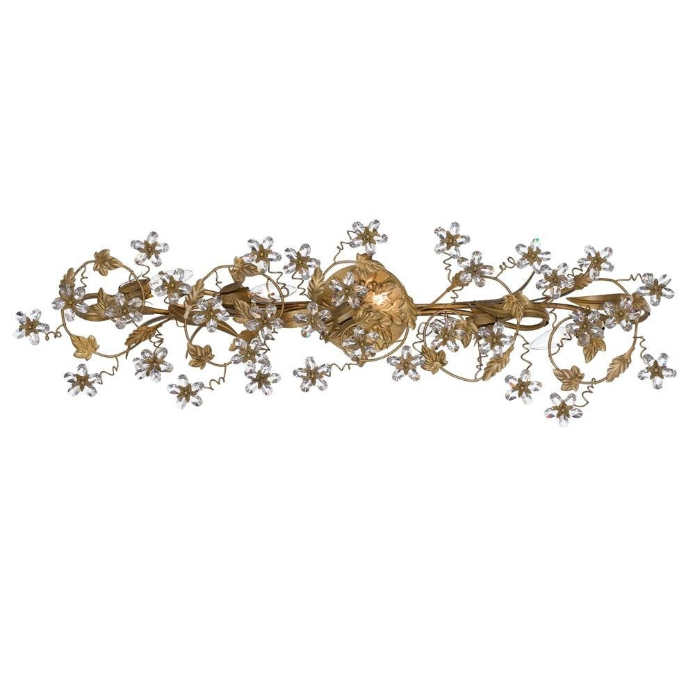 Crystorama Lighting - 5307-GL - Abbie - Five Light Bathroom Lights Gold Leaf Clear Hand Cut Crystal