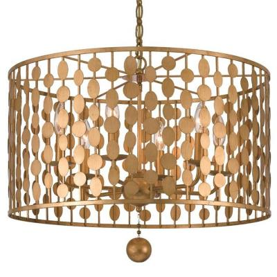 Crystorama lighting 546l layla six light chandelier mozeypictures Gallery