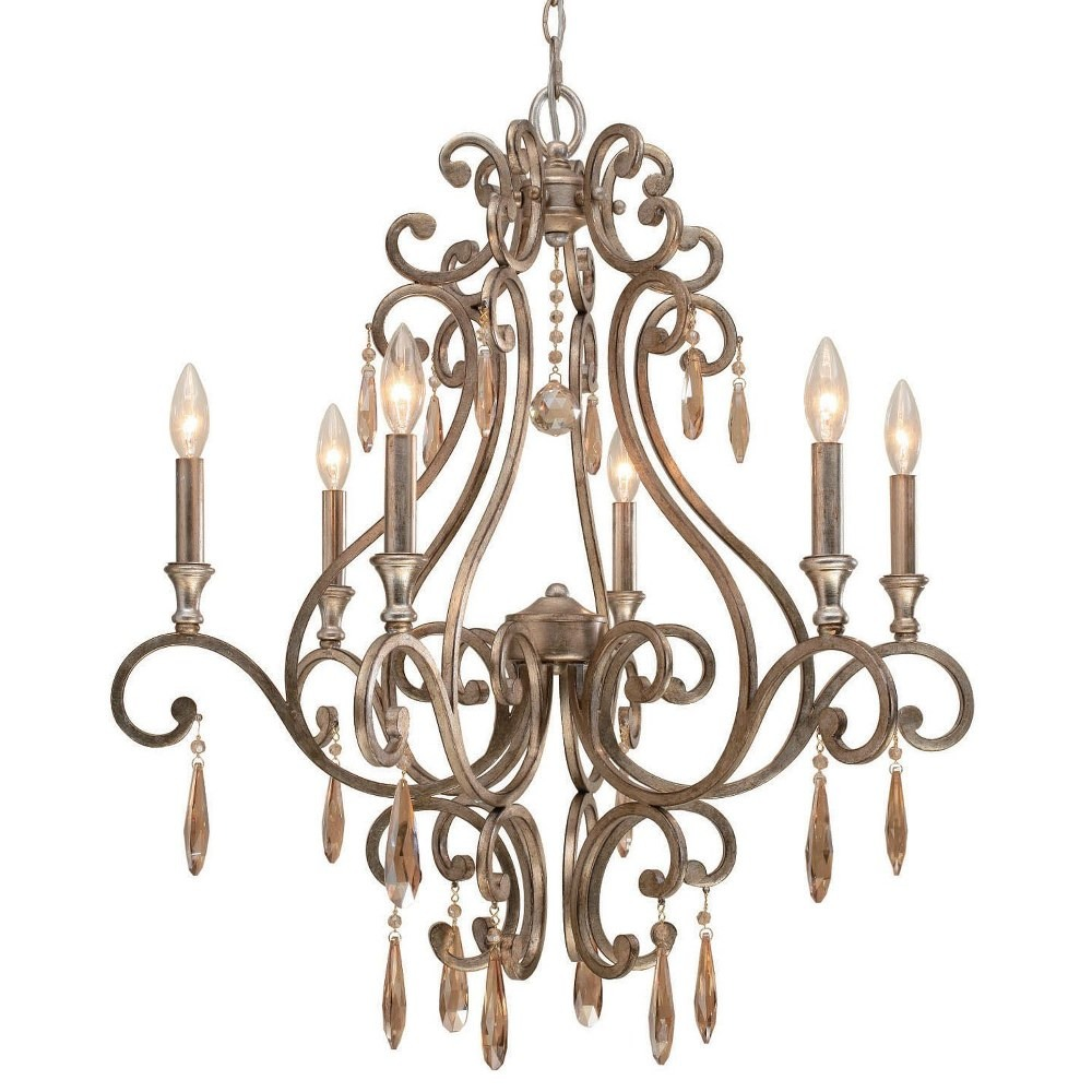Crystorama Lighting-7526-DT-Shelby - Six Light Chandelier  Golden Shadow Hand Cut Crystal