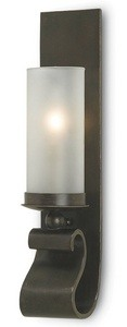 Currey and Company-5148-Avalon - 1 Light Wall Sconce  Bronze Gold Finish with Frosted Glass
