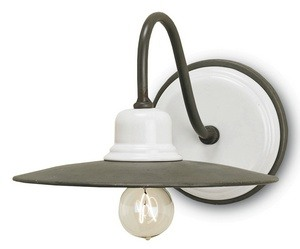 Currey and Company-5154-Eastleigh - 1 Light Wall Sconce  Hiroshi Gray/White Finish