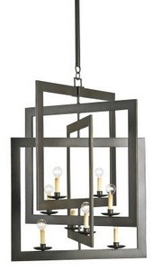 Currey and Company-9927-Middleton - Eight Light Chandelier  Bronze Gold Finish