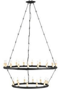 Currey and Company-9935-Toulouse - 30 Light Chandelier  Blacksmith Finish