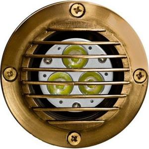 Solid Brass Well Light W/Grill 1.3W Mr16 20Leds 12V