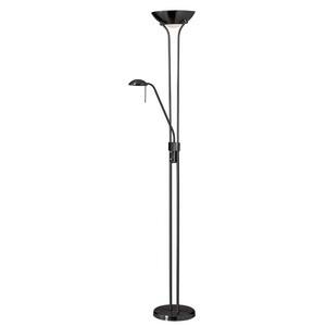 Dainolite-505F-MB-Mother-Son - Three Light Floor Lamp  Matte Black Finish
