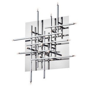 Dainolite-CG8616FH-PC-Mondrian - Sixteen Light Convertible Flush Mount  Polished Chrome Finish