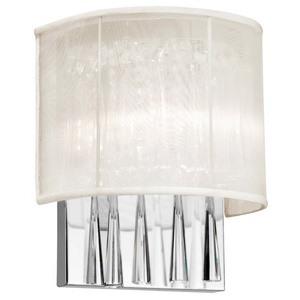 Dainolite-JOS72-W-PC-117-Josephine - Two Light Wall Sconce  Polished Chrome Finish Oyster Shade Optical Crystal Crystal