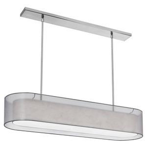 Dainolite-MEL448-814-790-PC-Melissa - Four Light Oval Pendant  Polished Chrome Finish with White Fabric Shade