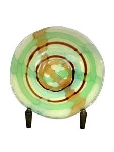 Dale Tiffany Lighting-PG80161-La Mesa - 4 Inch Decorative Charger with Stand  Hand Blown Art Finish