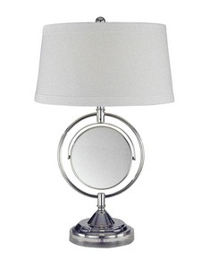 Dale Tiffany Lighting-PT12301-Contessa - One Light Table Lamp with Mirror  Chrome Finish with Fabric Shade