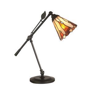 tiffany leaf one light desk lamp