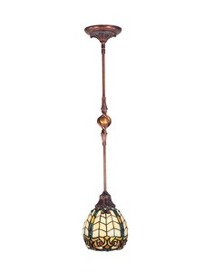 Dale Tiffany Lighting-TH100876-Raphael - One Light Mini-Pendant  Antique Golden Sand Finish with Hand Rolled Art Glass