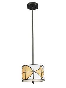 Dale Tiffany Lighting-TH12399-Varesa - One Light Mini-Pendant  Dark Bronze Finish with Hand Rolled Art Glass