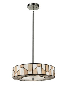 Dale Tiffany Lighting-TH13011-Sandfield - Two Light Pendant  Dark Bronze Finish with Hand Rolled Art Glass
