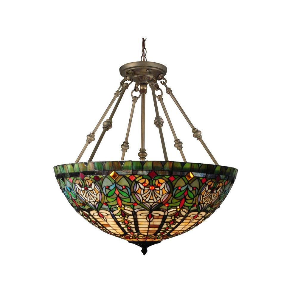 Dale Tiffany Lighting Th15123 Montezuna Three Light Inverted Pendant