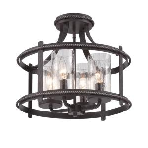 Palencia - Four Light Convertible Semi-Flush Mount