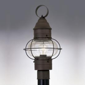 fountain 1766 rt nantucket one light outdoor onion post lantern. Black Bedroom Furniture Sets. Home Design Ideas