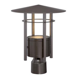 "Englewood - 12"" 7.8W 1 LED Outdoor Post Lantern"