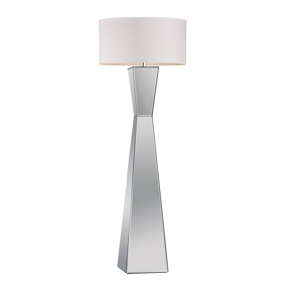 One Light Free Standing Mirrored Floor Lamp