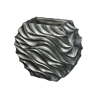 Dimond Home-9166-064-Kona Storm - 32.3 Inch Large Wave Planter  Pewter Finish