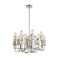 Dimond Lighting-1141-065-Symposium - Sixteen Light Chandelier  Polished Nickel Finish